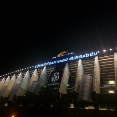 Santiago Bernabeu at night from outside
